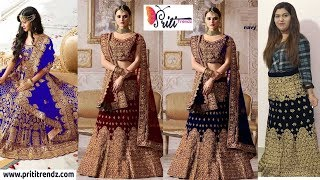Designer Bridal Lehanga Choli Collections ll Online Shop ll 19 Sep 2018