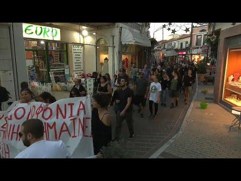 euronews (en español): Marcha antirracista en Lesbos