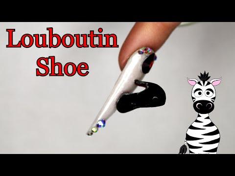 Extreme 3D Louboutin Heel Acrylic Nail Art Tutorial thumbnail