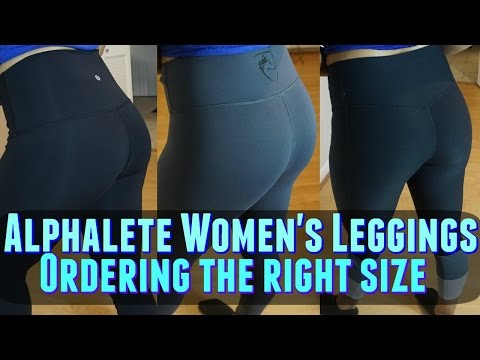 Alphalete Women S Leggings Try On Size Comparison The Right Size Youtube