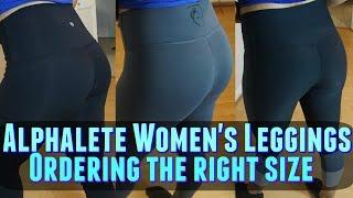 Alphalete Women's Leggings- Try on, Size Comparison, the right size?