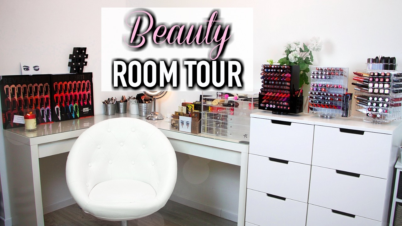 mon rangement maquillage horia youtube. Black Bedroom Furniture Sets. Home Design Ideas
