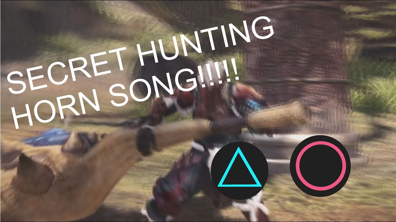 Secret Hunting Horn Song Must Know Monster Hunter World Youtube