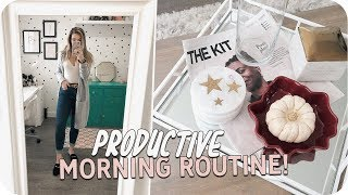 Productive Morning Routine! Home Vlog!