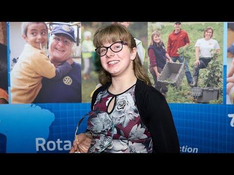 Abbie Breakwell - Rotary Young Citizen WheelPower Sport Award 2018 - BBC News interview