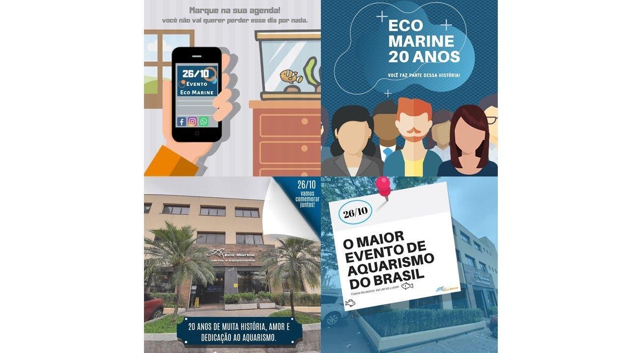 Festa de aniversário da Ecomarine, 20 anos,  o maior evento de aquarismo do Brasil