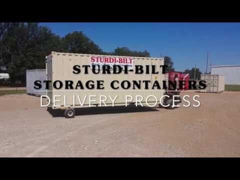 STURDI BILT Storage Containers Delivery Process Colorado YouTube