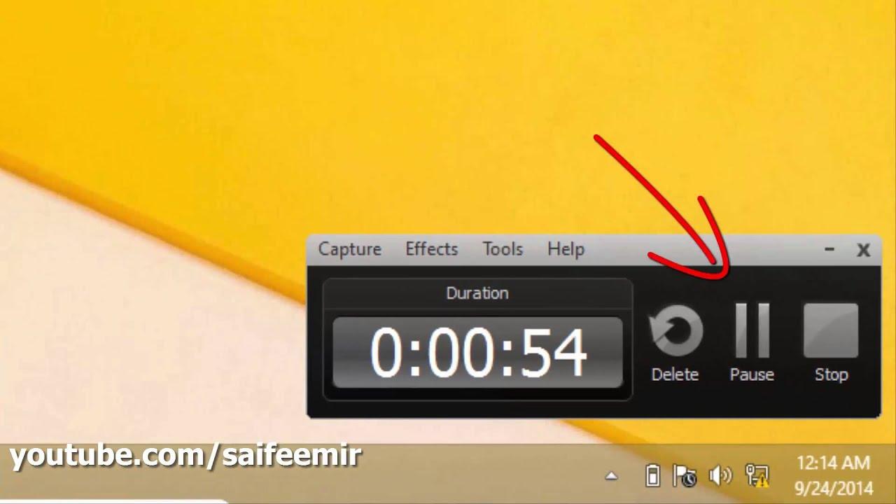 camtasia how to add screen shake