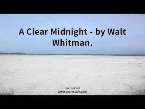 A Clear Midnight   by Walt Whitman