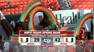 Miami Hurricanes Full Spring Football GAME HD 2014