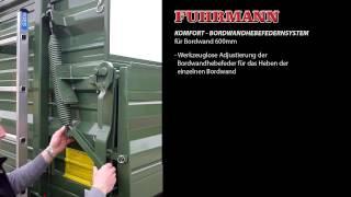 FUHRMANN - Komfort Bordwandhebefedernsystem für Bordwand 600 mm