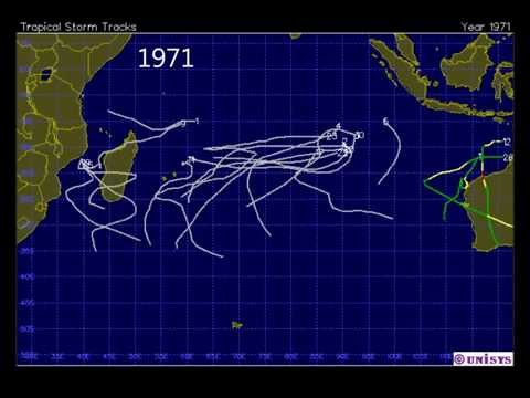 South Indian Ocean Tropical Cyclone Track Series for 1945 2013