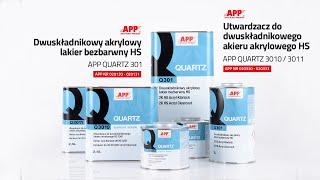 Dwuskładnikowy akrylowy lakier bezbarwny HS APP QUARTZ 301