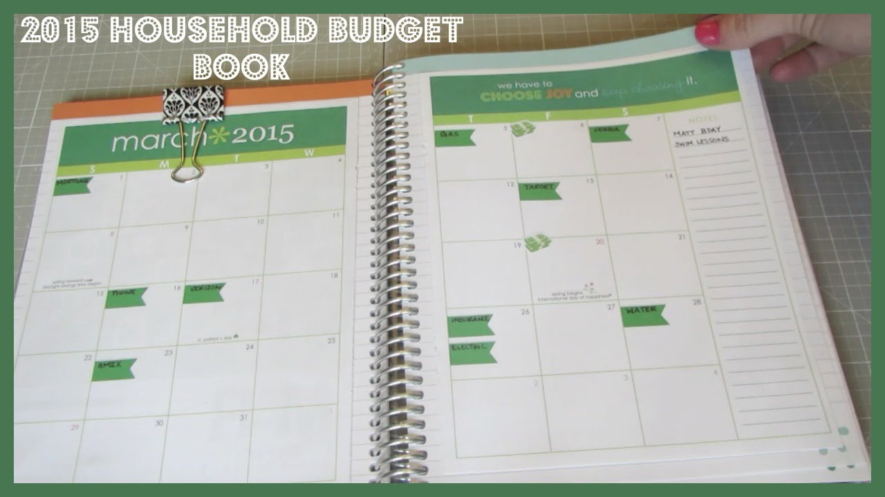 2015 household budget book youtube