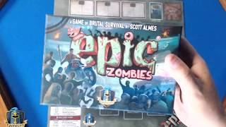 Tiny Epic Zombies Production Proof Unboxing