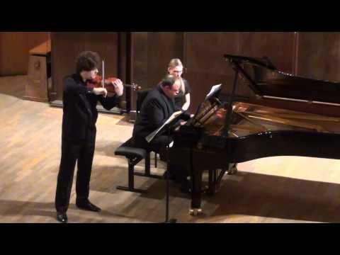 Ivan Pochekin (violin), Alexander Ghindin (piano). Johannes Brahms-Violin Sonata No.1, Op. 78