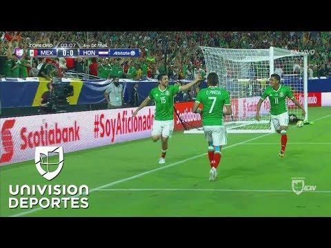 Madruguete de México y muy rápido Rodolfo Pizarro marcó el 1-0 sobre Honduras