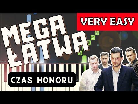 🎹 Czas honoru (czołówka, B. Chajdecki) - Piano Tutorial (MEGA ŁATWA wersja) 🎹