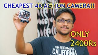 Cheapest 4K Action Camera 2017 | Only 2400Rs!!