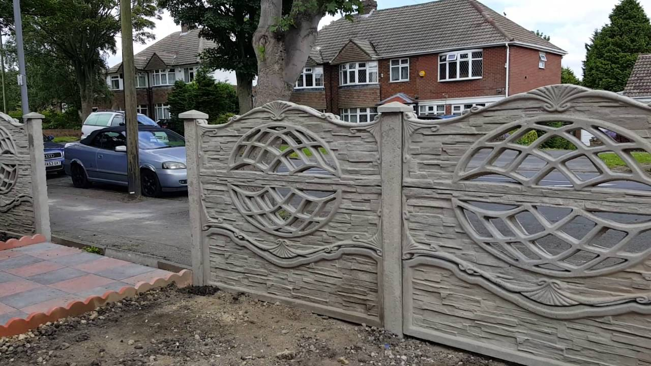 Decorative Concrete Fence Panels 3D1 Double Sided   YouTube