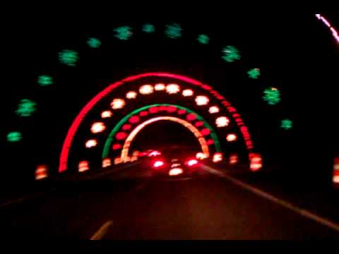 Wayne County Hines Park Light Fest Christmas Tunne - YouTube