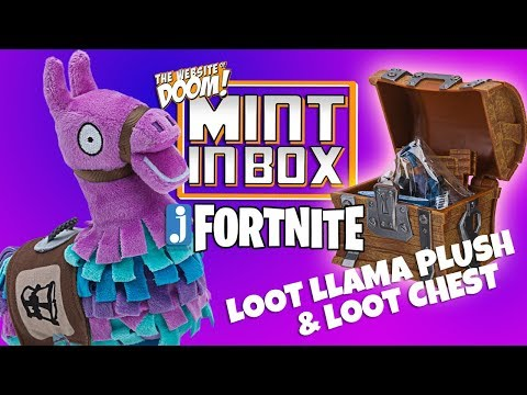 Mint In Box: Jazwares Fortnite - Loot Llama Plush & Collectible Loot Chest *Unboxing*