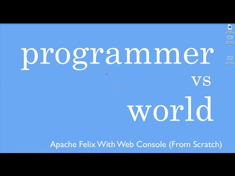 Installing Apache Felix With Web Console From Scratch