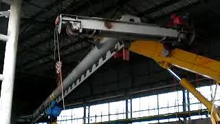 видео Монтаж крана мостового двухбалочного в Красноярске. Грузоподъемность 20 тонн, ширина пролета 28,5 метров.