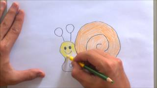 How to draw snail easy for kid  with letter o| The alphabet song