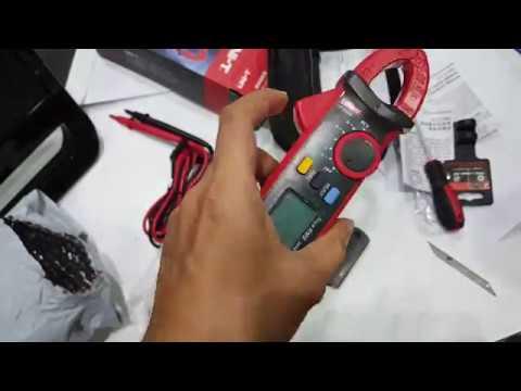 T210d Digital Ac Dc Voltage Resistance Clamp Meter : Clamp meter uni t ut d true rms มัลติมิเตอร์ แกะกล่อง เห่อของ