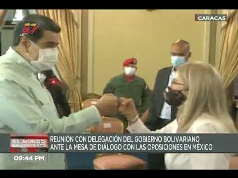 Maduro se reúne con delegación del gobierno que irá a dialogar con oposición en México