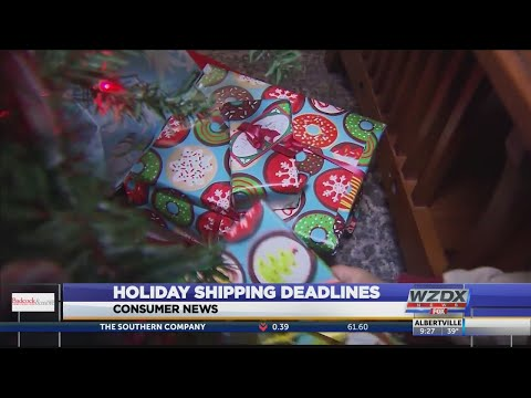 Chino - ALERT: Holiday shipping deadlines for FedEx, UPS & USPS are approaching