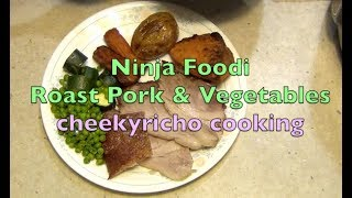 Roast Pork and Vegetables Ninja Foodi Cheekyricho cooking video recipe. ep. 1,266