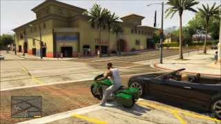 Grand Theft Auto 5 - Franklin Motorcycle Tuning Riding Gameplay [HD]