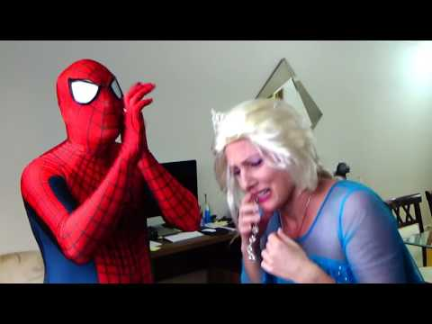 Spiderman & Frozen Elsa w  Doctor! With Pink Spidergirl and Joker  Superhero Fun in Real Life