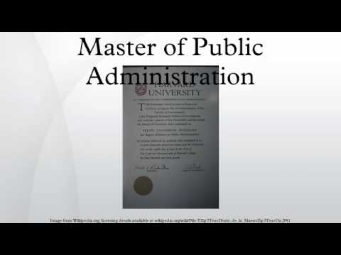 master-of-public-administration