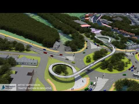 A27 Arundel pass Flyover Option 1