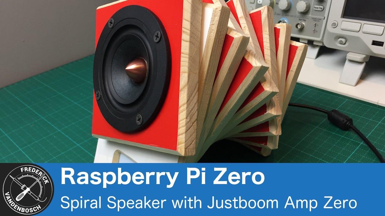 Spiral Speaker Build - Raspberry Pi Zero, Amp Zero, Scroll pHAT