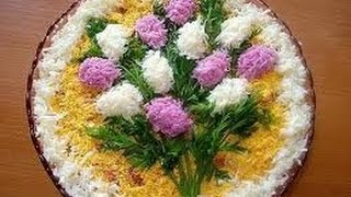 12 Идей украшения салата Оливье