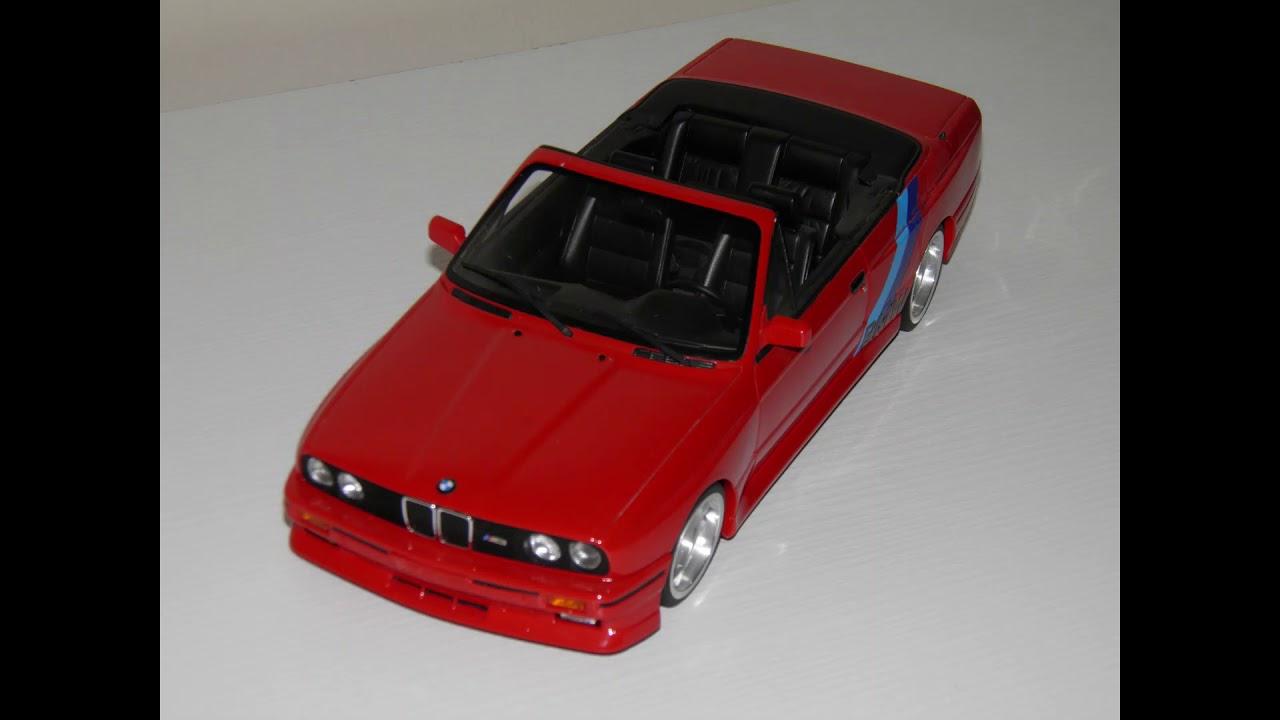 1:18 OTTO BMW E30 M3 CABRIO RED - YouTube