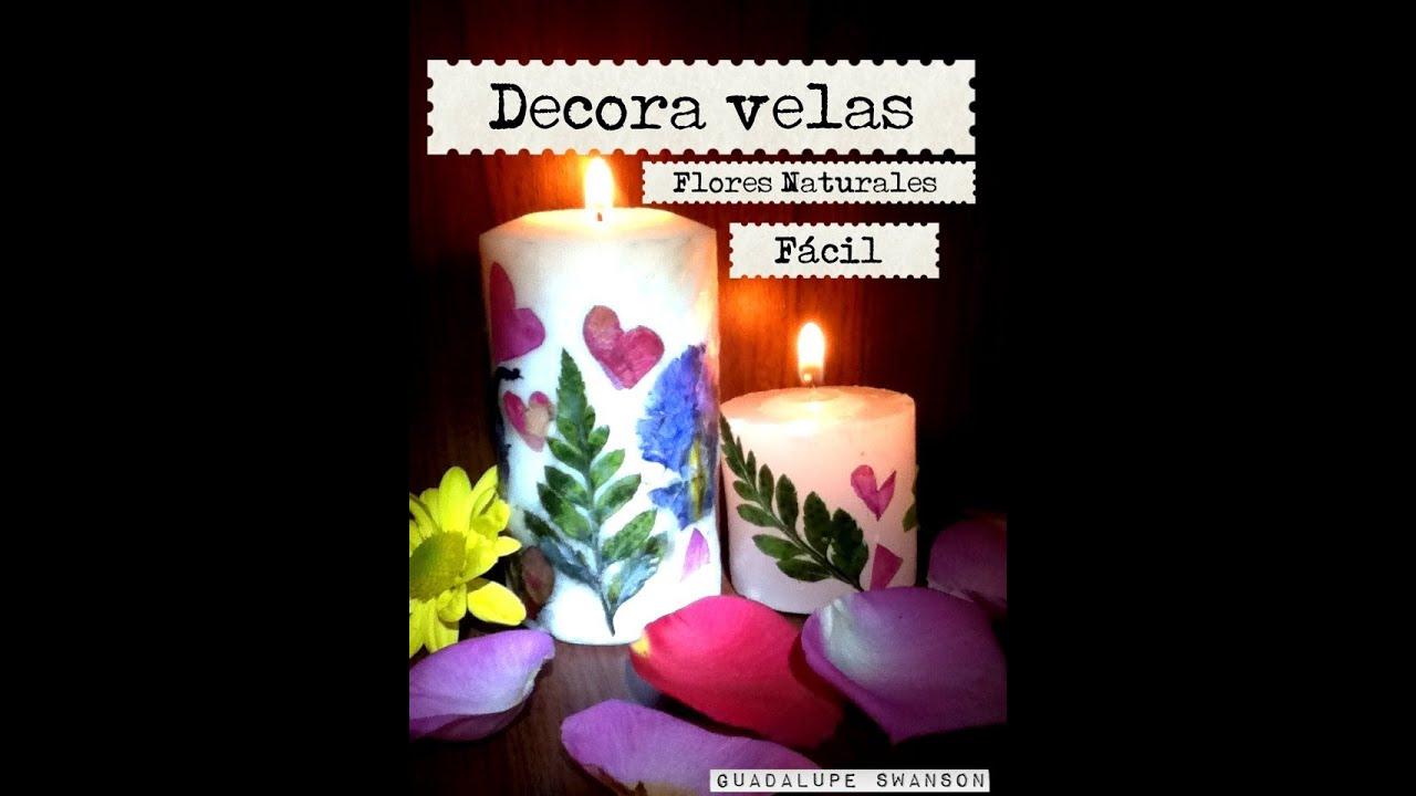 Decoraci n de velas con flores naturales cuchara f cil - Decoracion de jarrones con flores artificiales ...