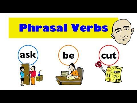 Phrasal Verbs   ask, be, cut   Set 1   English Speaking Practice   ESL   EFL   ELL