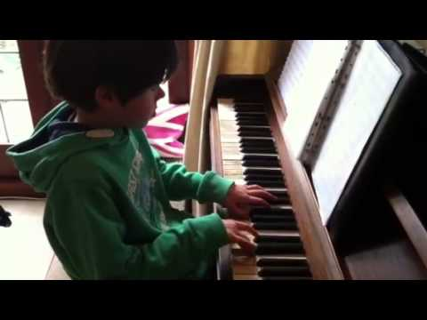Benjamin Lawton playing 'Watercolours' on the piano