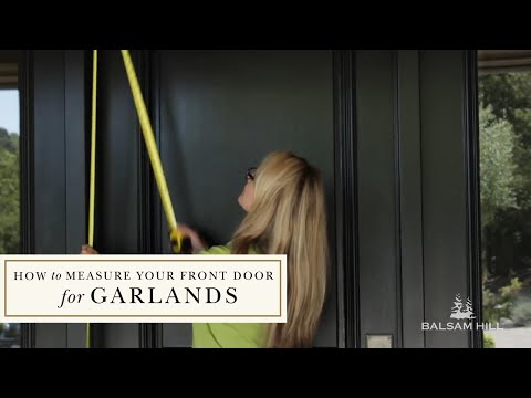 Hanging A Balsam Hill Garland On A Door Youtube