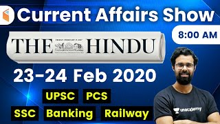 8:00 AM - Daily Current Affairs 2020 by Bhunesh Sir | 23-24 February 2020 | wifistudy