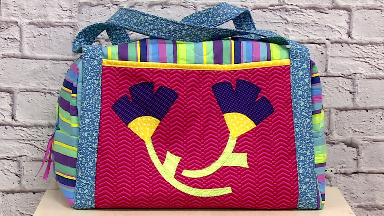 Bolsa De Viagem Em Tecido Passo A Passo : Costura criativa bolsa de viagem lia pavan