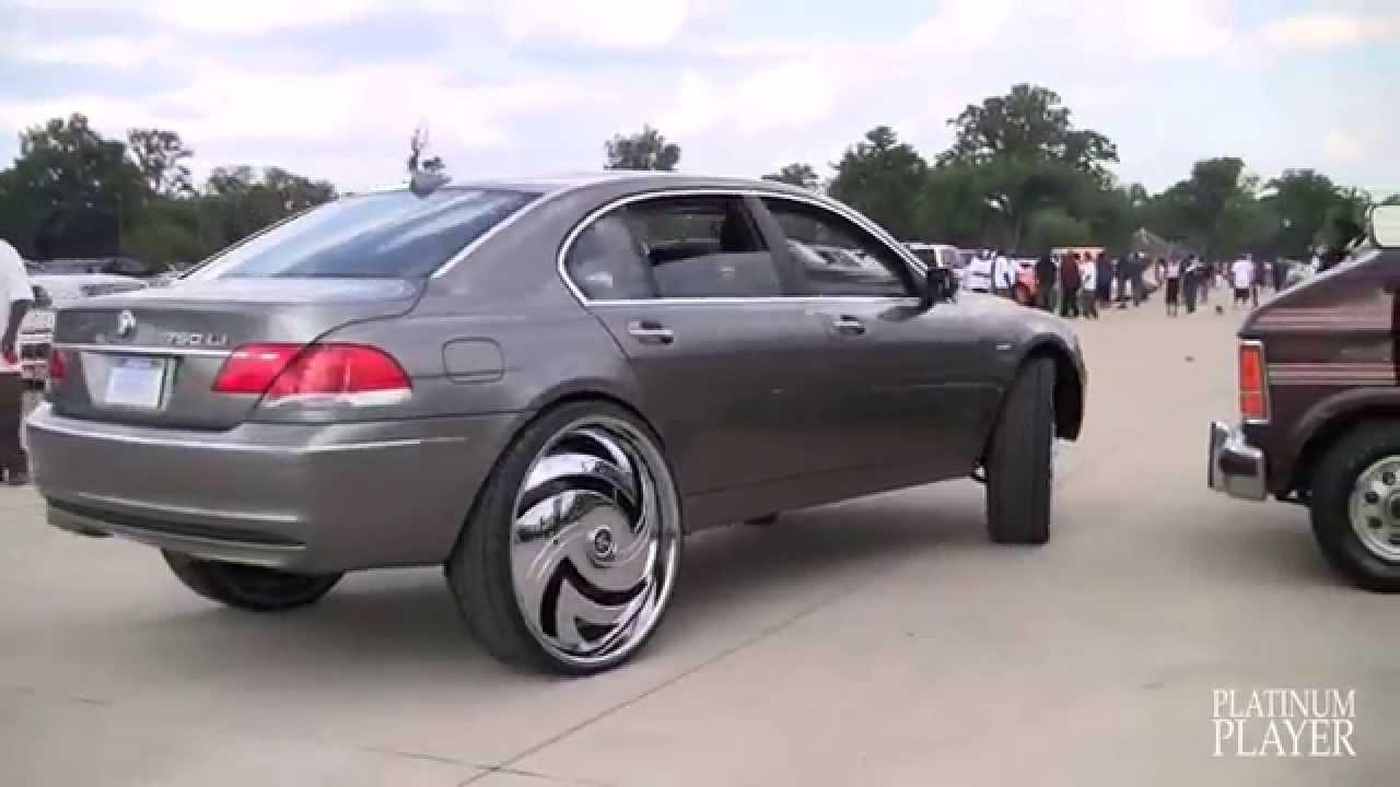 BMW 750Li on 30 RIMS!!!!!!!! БМВ 750 Li на 30 дисках ...