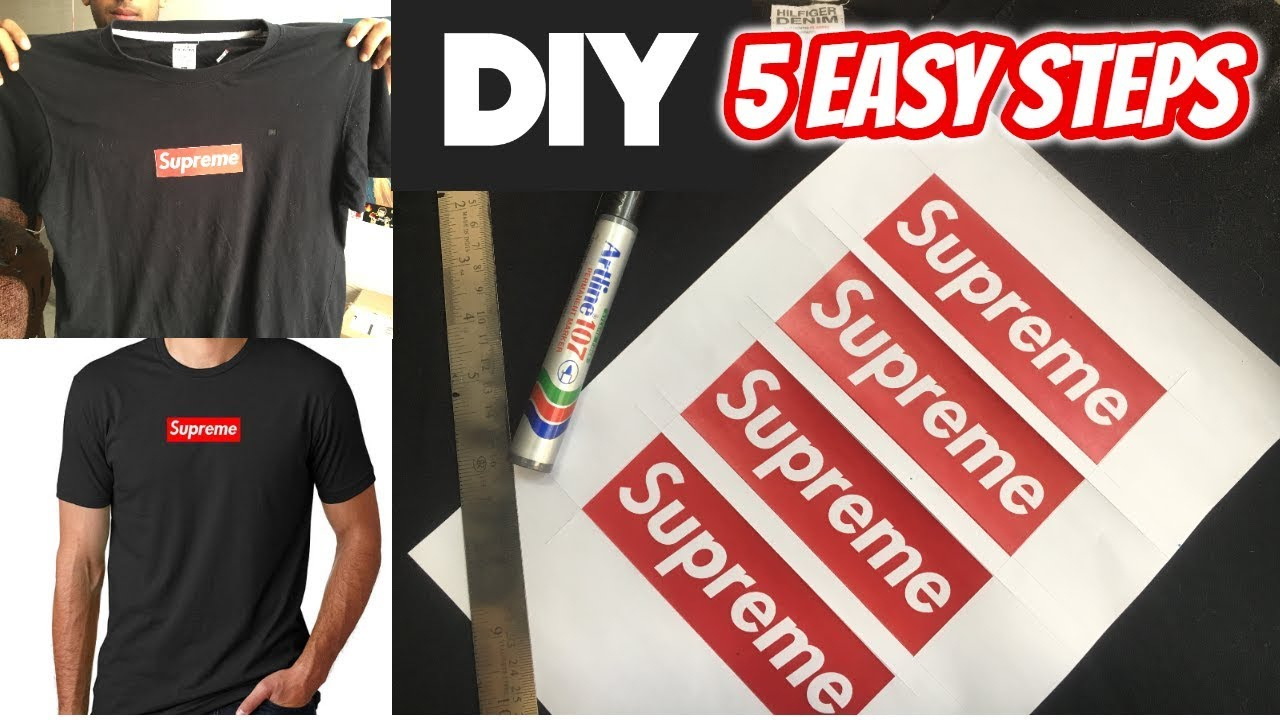 3081279e7047 make your own SUPREME TSHIRT | INDIA - YouTube