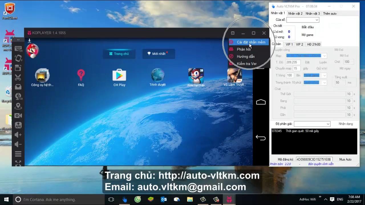 Hướng dẫn cài đặt KO Player sử dụng Auto VLTKM Pro 2.2
