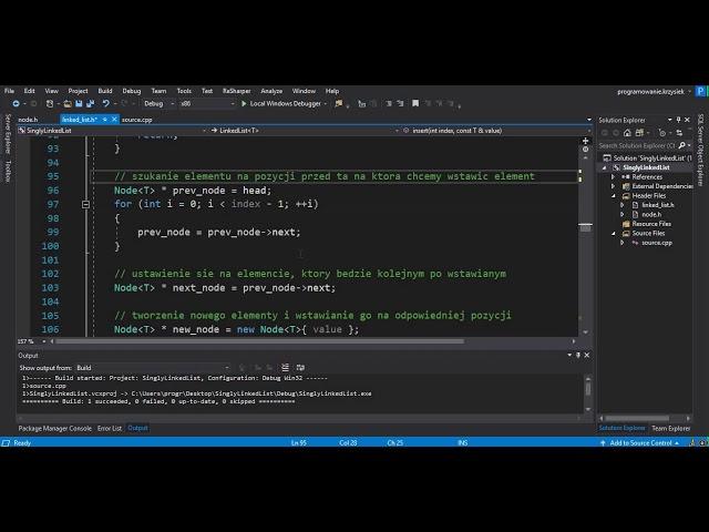 C++ - DYNAMICZNE STRUKTURY DANYCH - LISTA JEDNOKIERUNKOWA